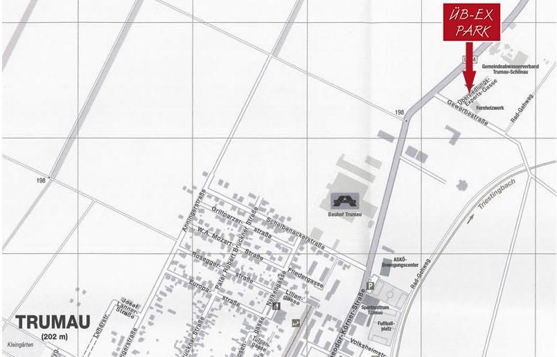 Standort Map ÜB-EX Park Trumau